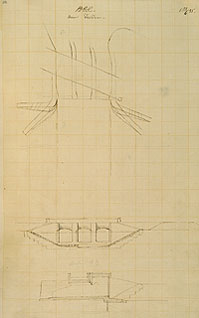Brunel sketch of feeder sluice at Bristol docks (University of Bristol)