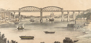 View of Royal Albert Bridge (Private collection)