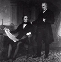 Portrait of George and Robert Stephenson (ICE)