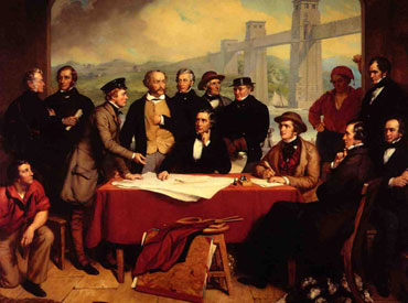 Conference of Engineers at Britannia Bridge' 1851-3 John Lucas (Institution of Civil Engineers)