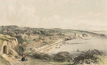 View of Brunel's atmospheric railway at Dawlish (Private collection)