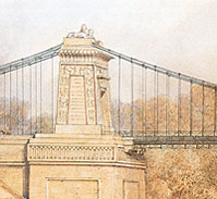 The artist Samuel Jackson's impression of a detail from a Brunel bridge design (Bristol Museums & Art Gallery)