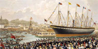 Launch of ss Great Britain