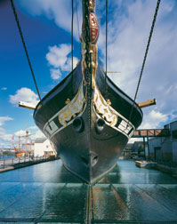 The ss Great Britain's bow by day