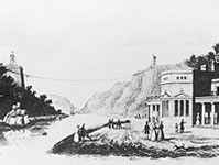 Hotwell House and piers of suspension bridge (University of Bristol)